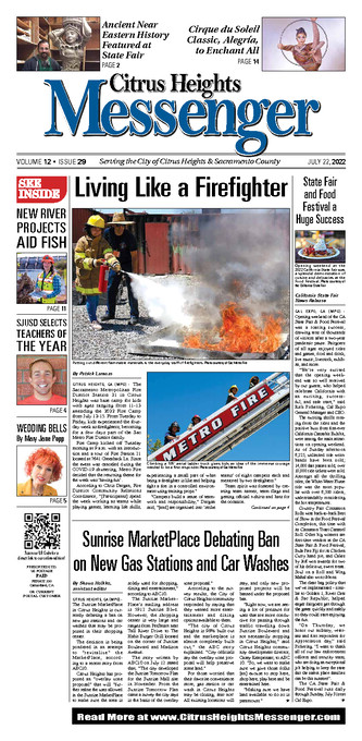 Citrus Heights Messenger Front Page